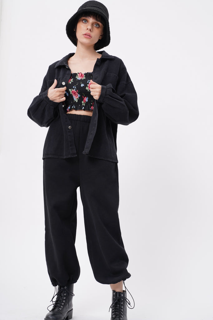 Break No Sweat Baggy Sweatpants - Black