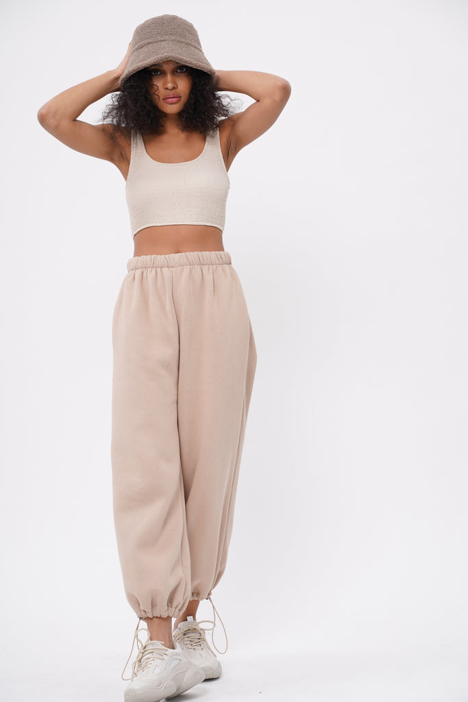 [PREORDER] Break No Sweat Baggy Sweatpants - Nude