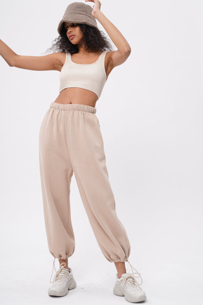 Break No Sweat Baggy Sweatpants - Nude