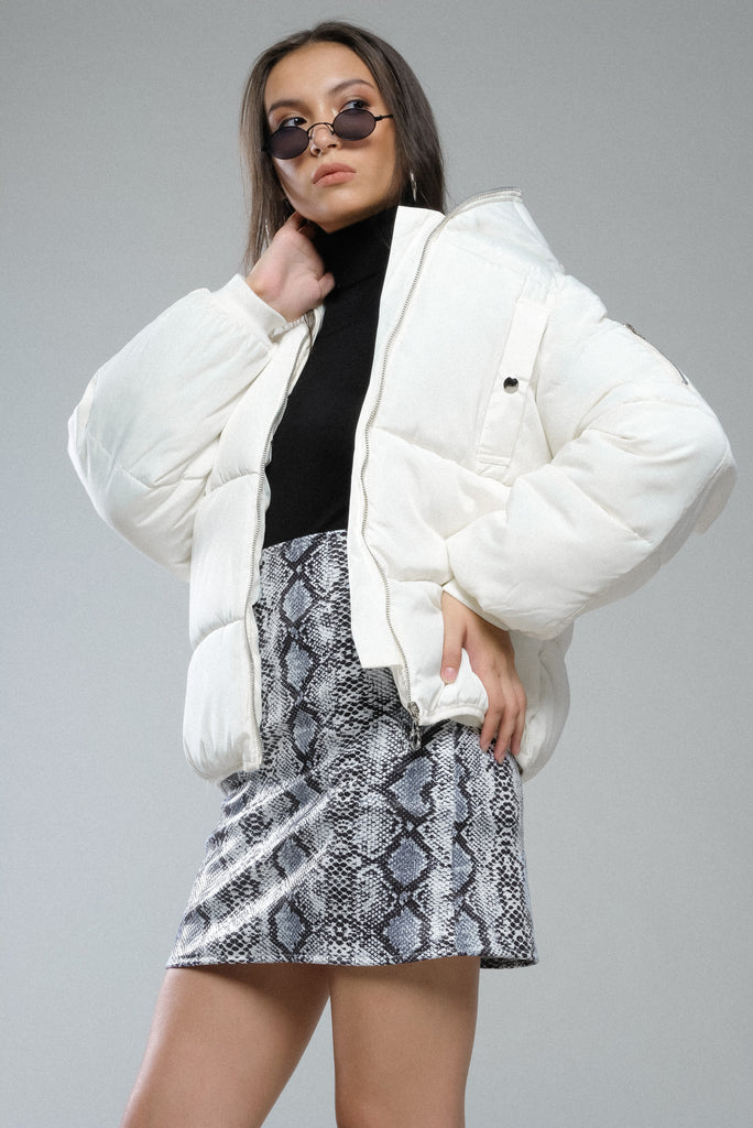 Cold Front Puffer Jacket - White