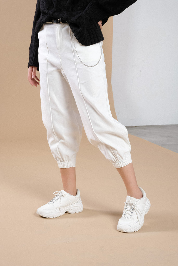 Keep It Moving Baggy Trousers - White