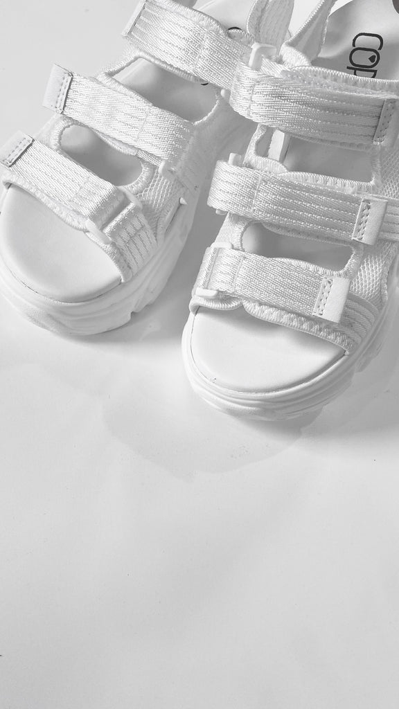 Reissue: Trespasser Chunky Sandals - White