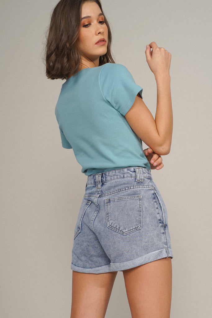 Easy Does It Essential Tee - Teal