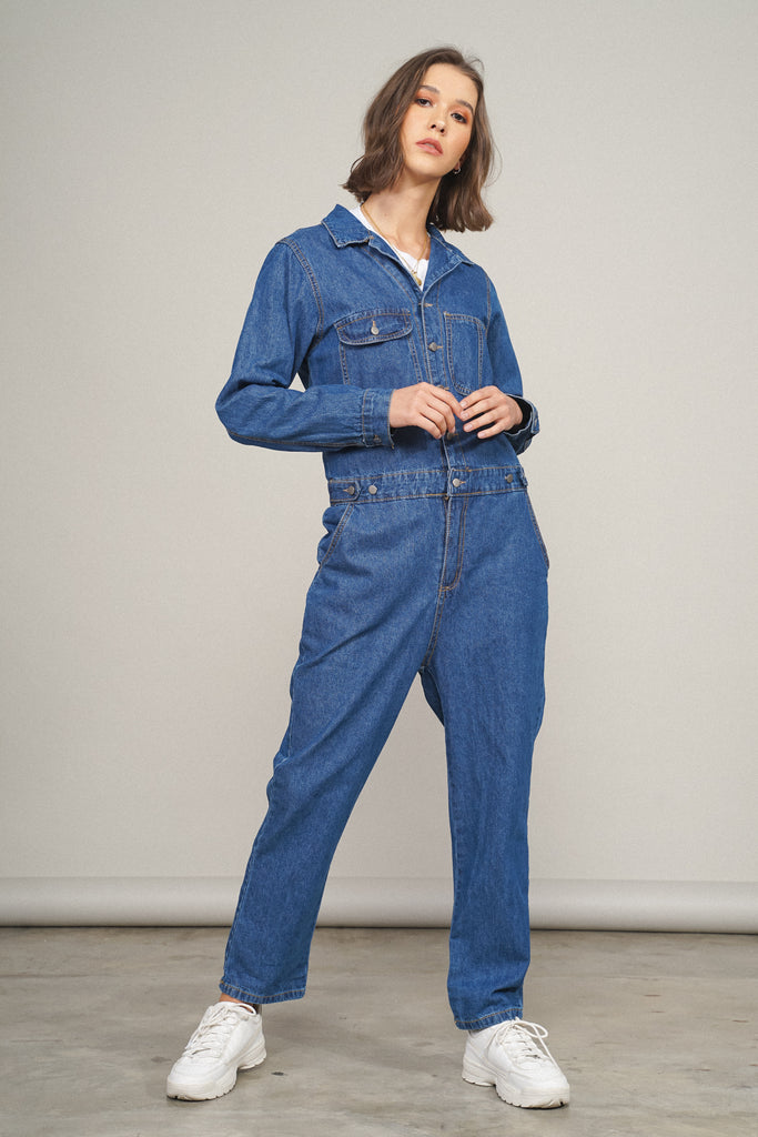 Play It Cool Denim Boiler Suit