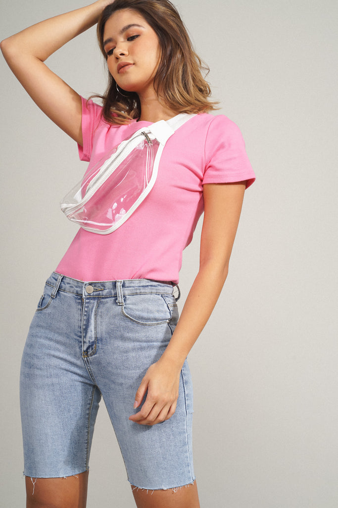 Easy Does It Essential Tee - Neon Pink