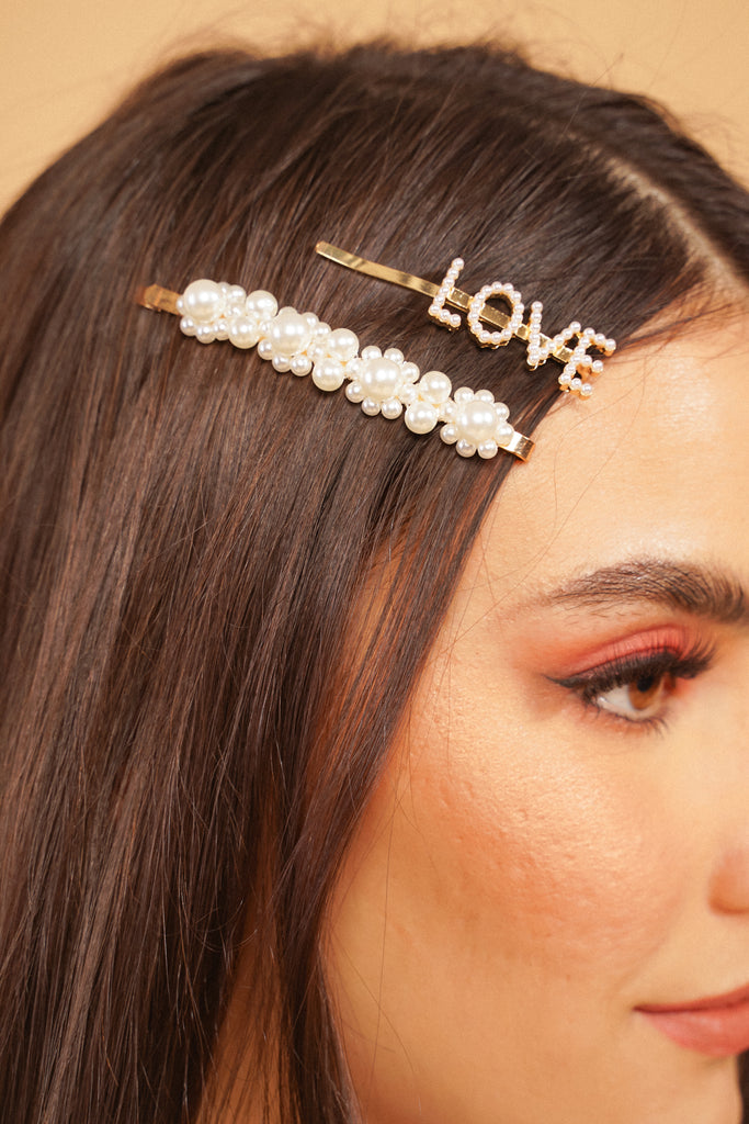 Love On Top 2-Piece Hair Slide Set
