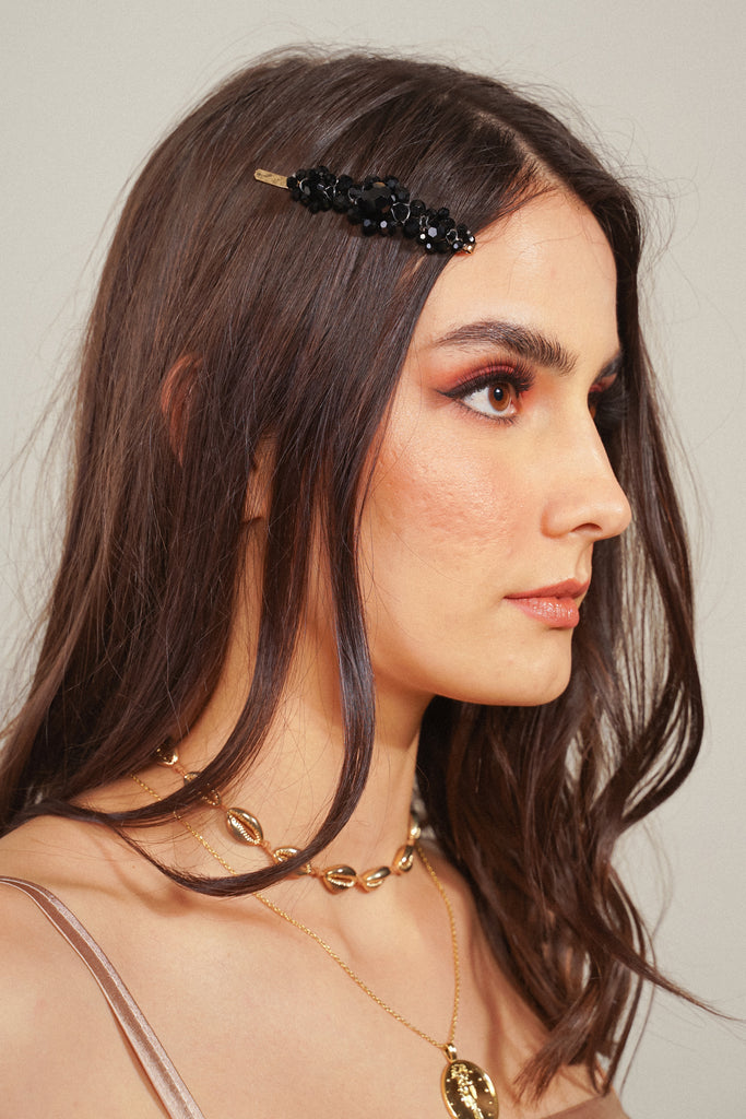 Hidden Spark Hair Slide - Black