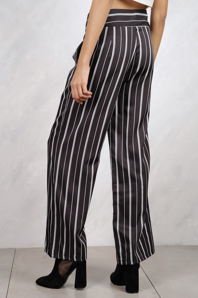 Bottom Line Striped Trousers - Black