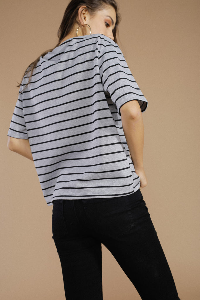 Right On The Line Striped Tee - Alex