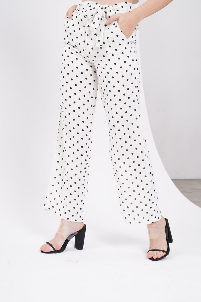 Inner Circle Wide Leg Pants - White