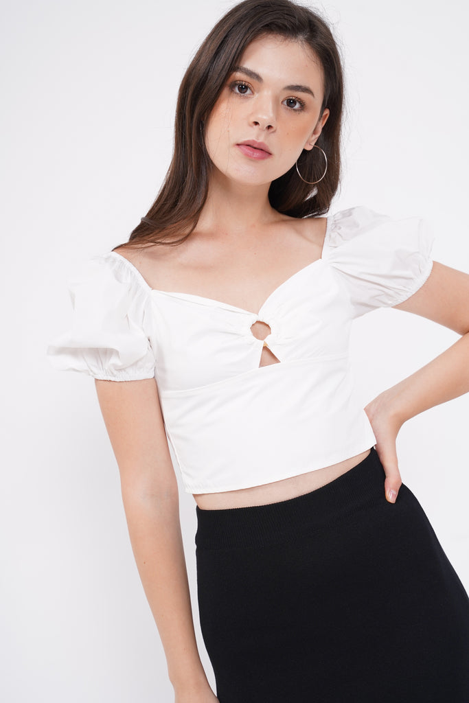 Made To Love Crop Top - White