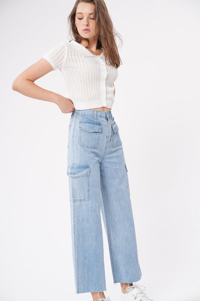Straight Up Baggy Cargo Jeans