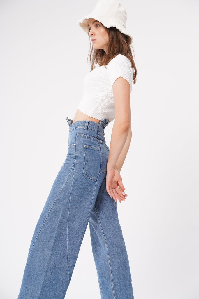 Roll With It Reconstructed Baggy Jeans