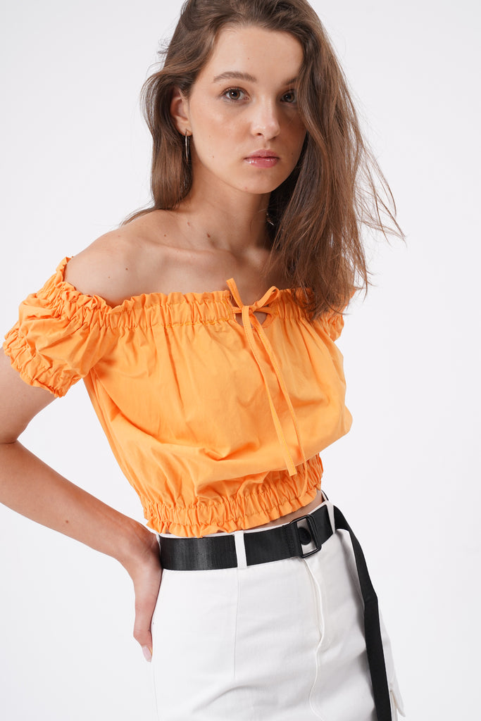 So Into You Ruffled Bardot Top - Marmalade