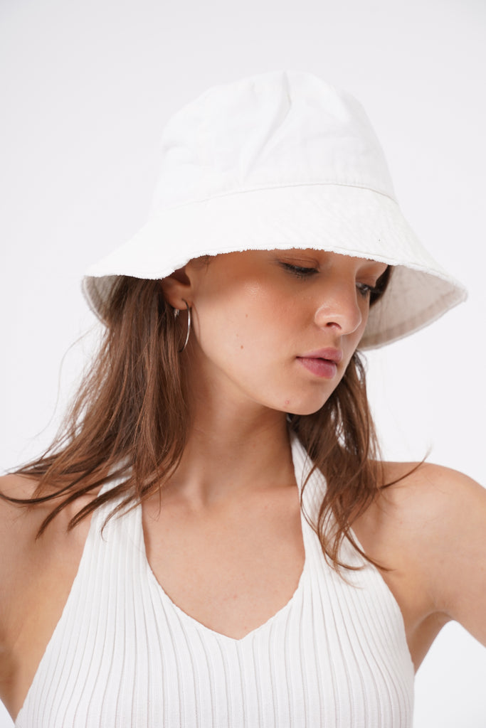 Where You At Bucket Hat - White