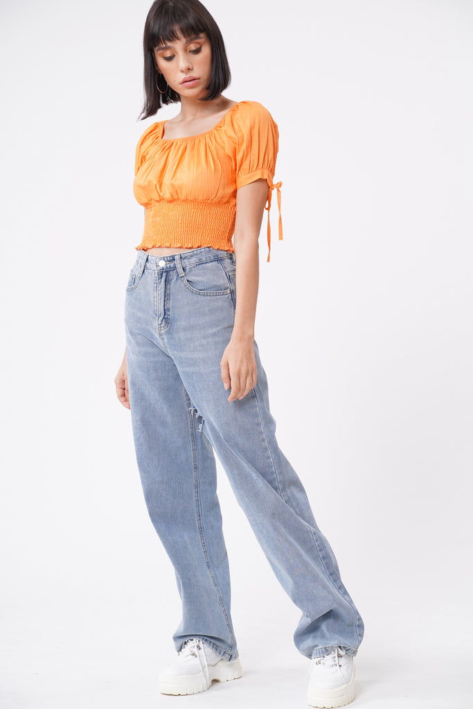 Say It's True 2-Way Ruched Top - Marmalade