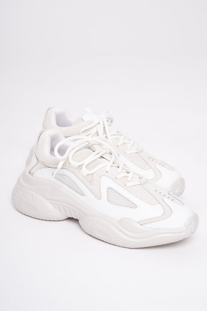 Traction Chunky Trainers - Salt