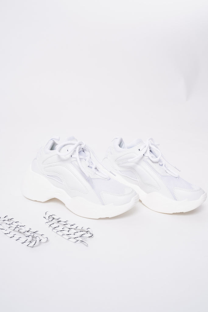 Renegade Chunky Dad Trainers - White