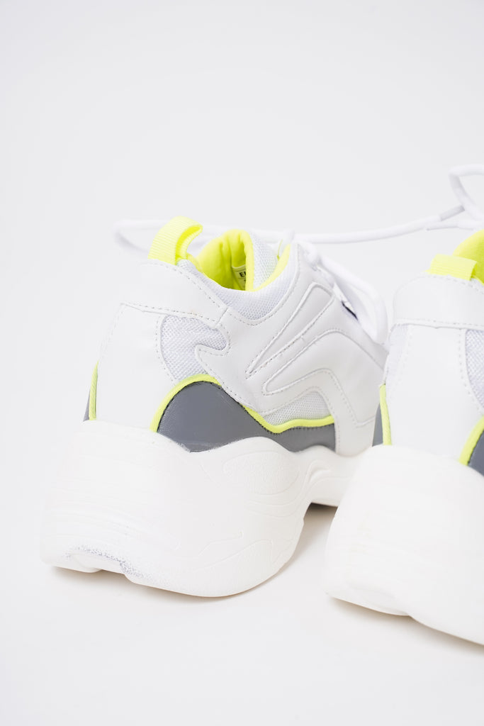 Renegade Chunky Dad Trainers - Neon