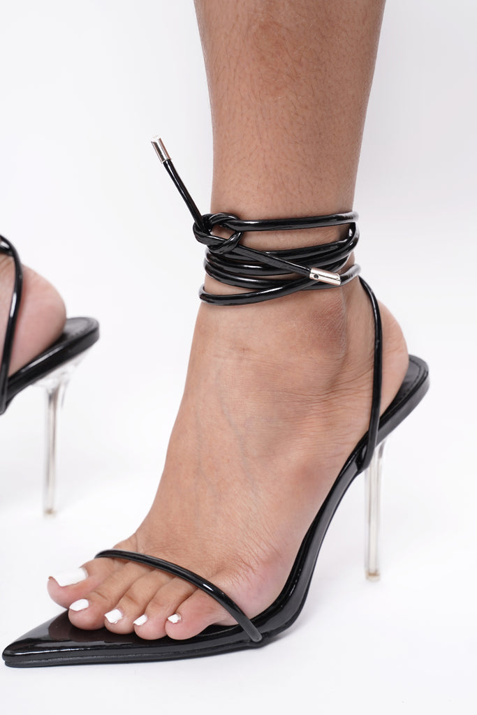 Hellcat Pointed Toe Lace Up Stilettos