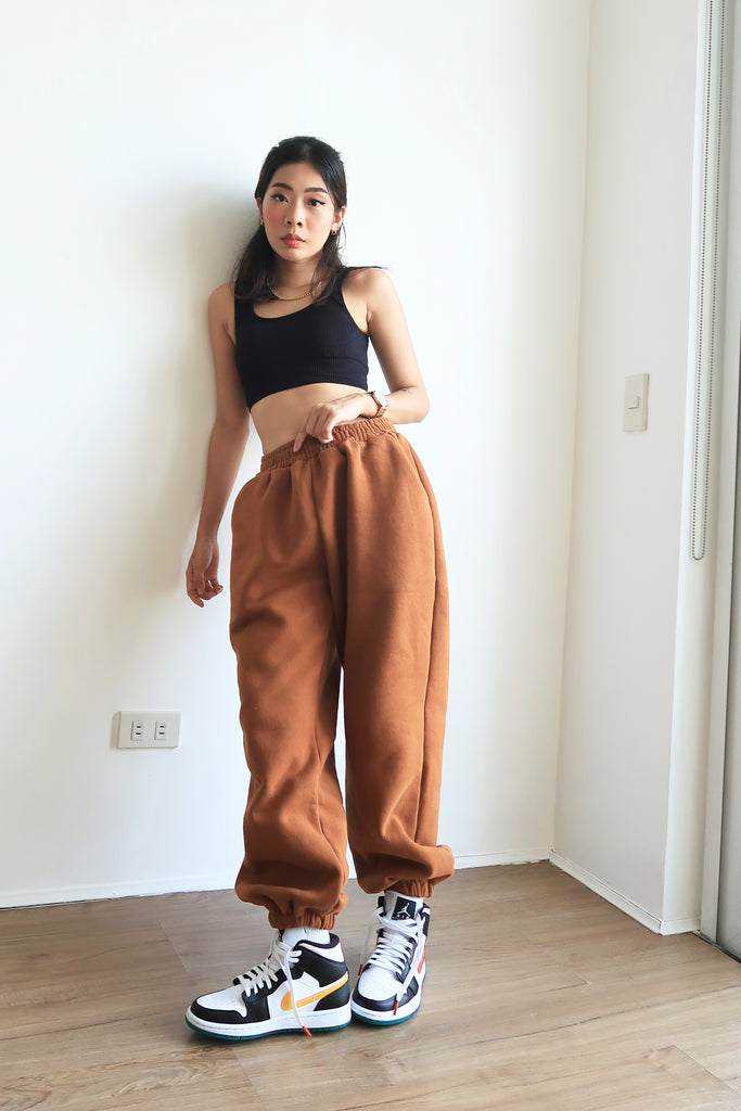 [PREORDER - BATCH 5] Don't Sweat It Essential Jogger Pants - Brown Sugar