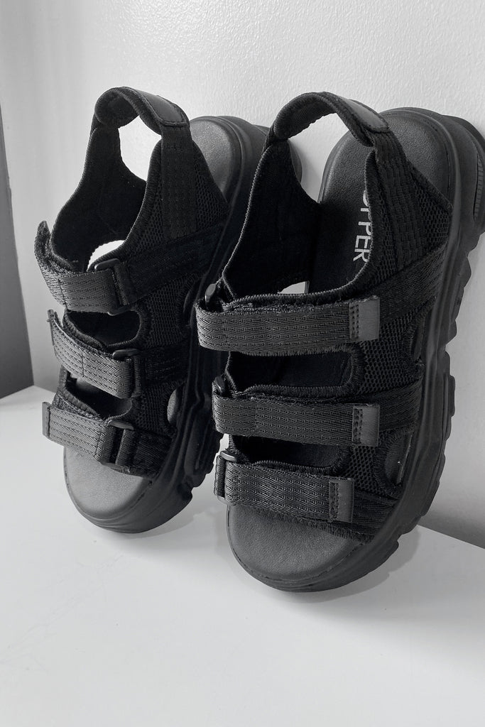 [PREORDER] Reissue: Trespasser Chunky Sandals - Black