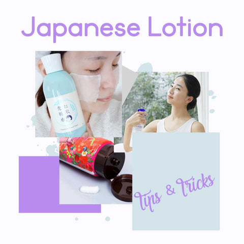 Japanese Lotion tips&tricks. Murasaki Cosmetics. Japanese cosmetic and skincare shop Netherlands