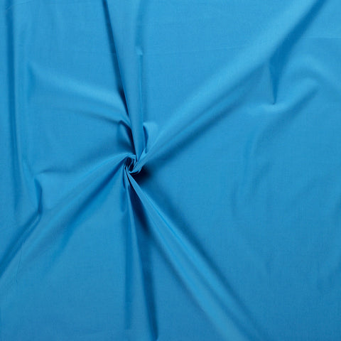 AQUA UNICOLOUR 100% COTTON POPLIN FABRIC HALF METER