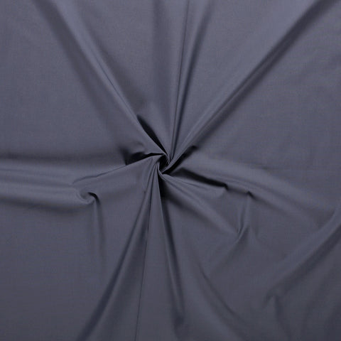 DARK GREY UNICOLOUR 100% COTTON POPLIN FABRIC HALF METER