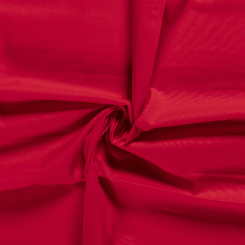 RED UNICOLOUR 100% COTTON POPLIN FABRIC HALF METER