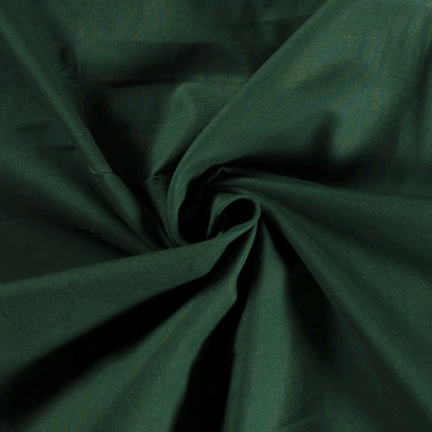 DARK GREEN UNICOLOUR 100% COTTON POPLIN FABRIC HALF METER