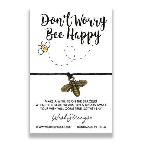 Dont Worry, Bee Happy WishStrings Bracelet