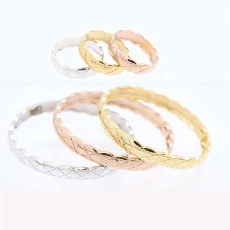 18Kt Gold Plated 3 Pieces Women's Bracelet & Ring Delicate Fashion Jewelries - Jawaherat