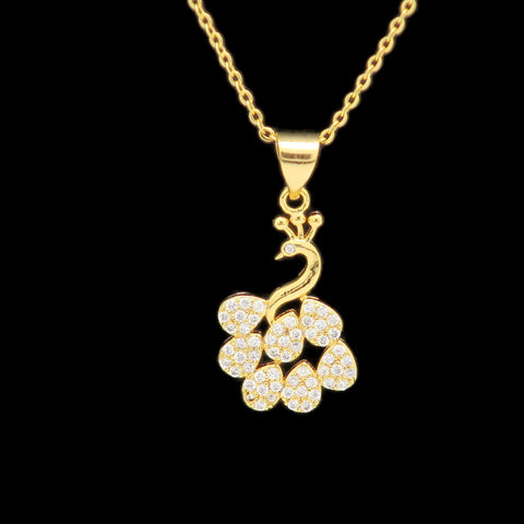 18K  Gold Plated Women's  Cubic Zirconia Diamond pendent swarovski shape