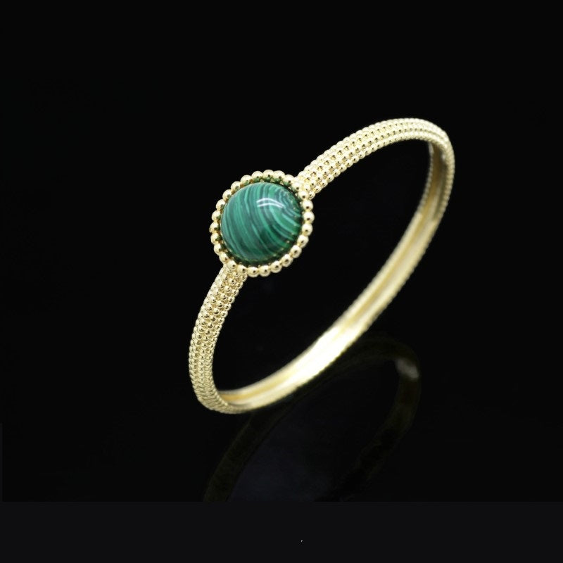 18Kt Gold Plated 2 Pieces Women's Bracelet & Ring Delicate Fashion Jewelries - Jawaherat
