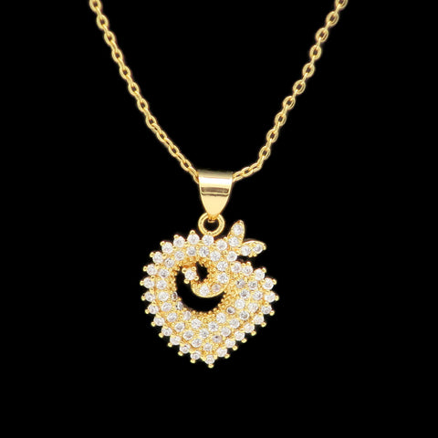 18K  Gold Plated Women's  Cubic Zirconia Diamond pendent