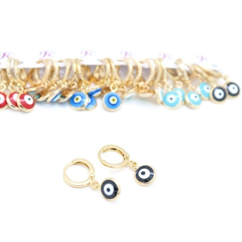 18Kt Gold Plated Women's earring Delicate Eye Shape Design
