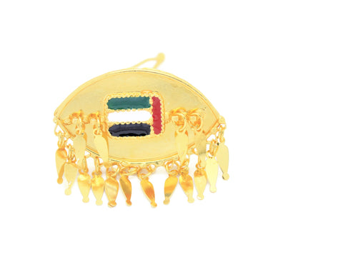 18 Kt Gold Plated UAE National Day Metal Flag Hair Clip