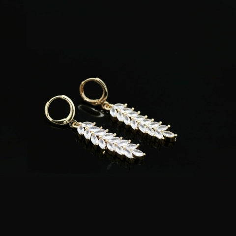18Kt Gold Plated Women's earring Delicate Simple Zircon Decor Jewelry - Jawaherat