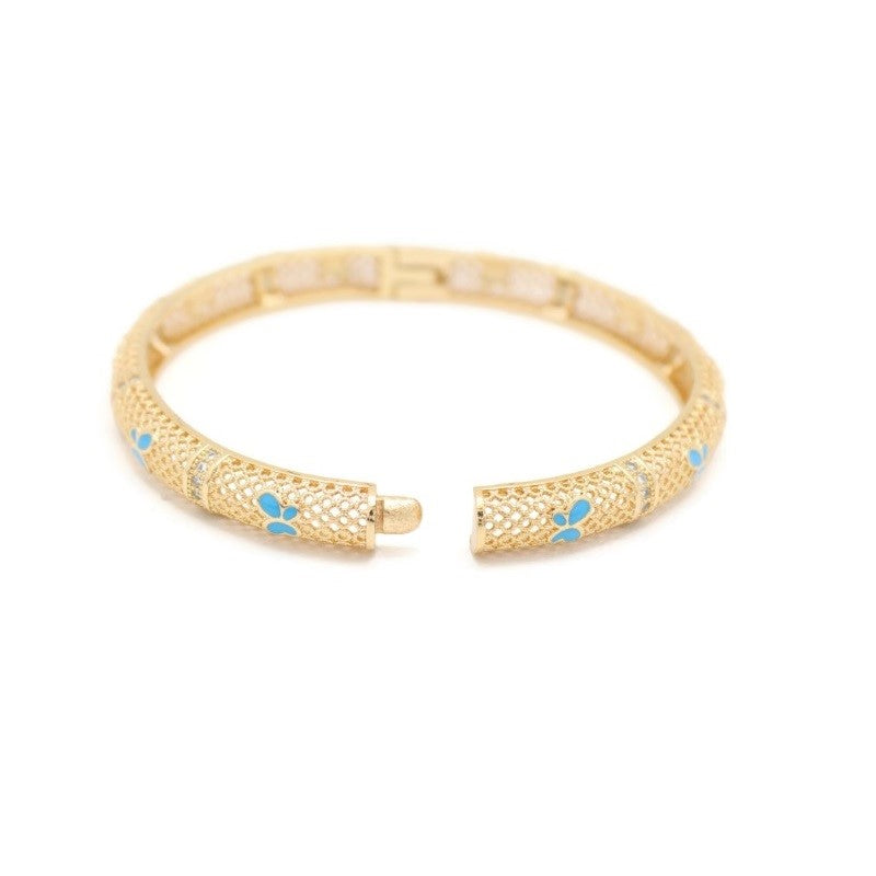 18KT GOLD PLATED WOMEN'S FASHION BANGLE BRACELET - Jawaherat