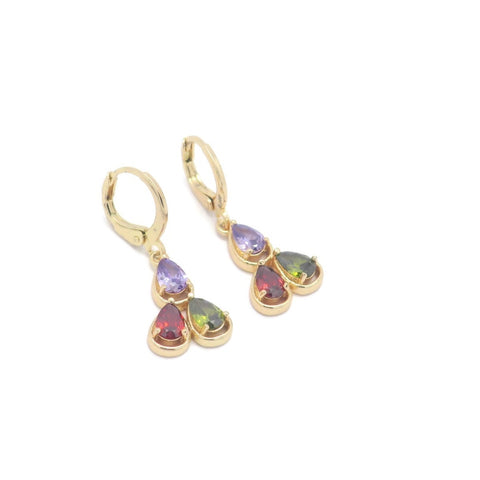 18kt Gold Plated Fashion Multicolor Earrings