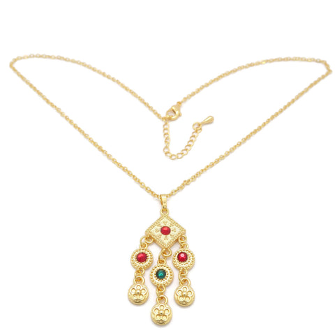 18kt gold women,s fashion locket set - Jawaherat