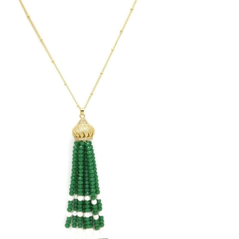 18Kt Gold Plated Trendy Necklace women's fashion Long Necklace Zircon Jewelries