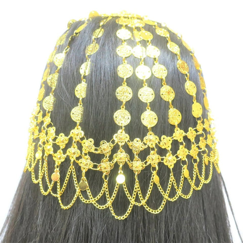 18Kt Gold Plated Arabic Style Head Piece Hama - Jawaherat