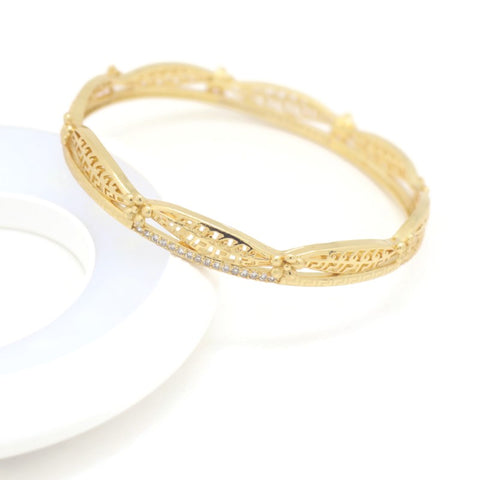 18Kt Rose Gold Plated Women's Fashion  Bangle Bracelet