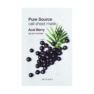 MISSHA PURE SOURCE CELL SHEET MASK (ACAI BERRY) - Jawaherat