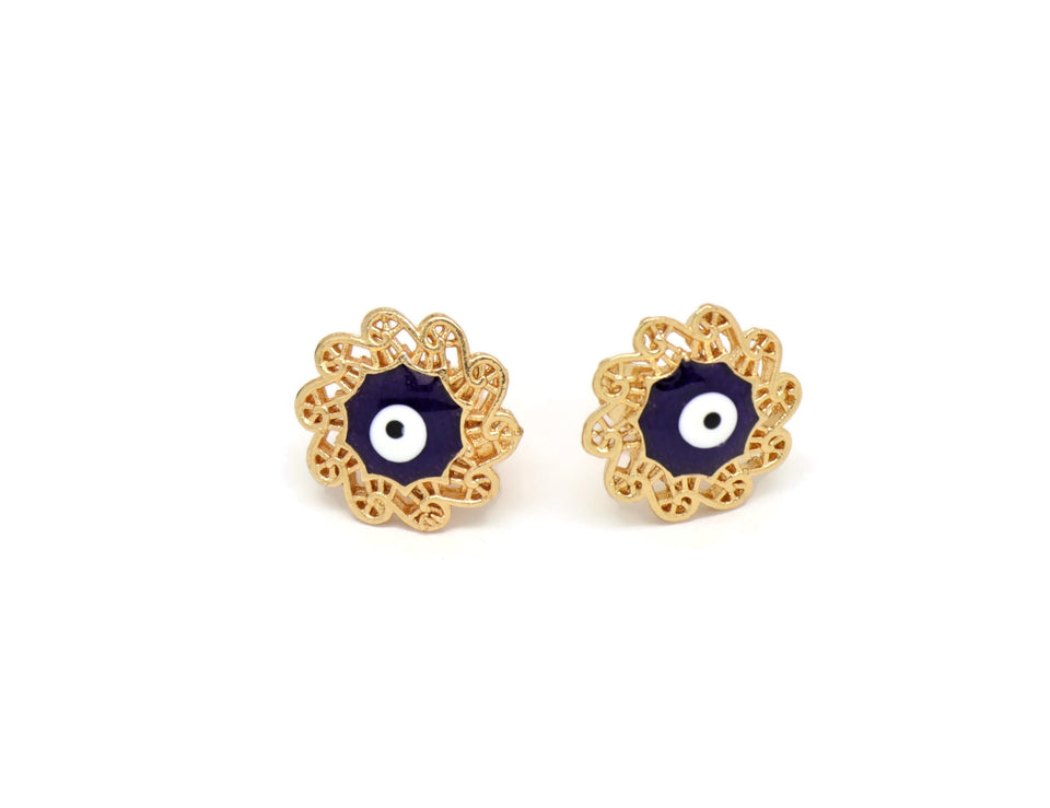 Hippie Fashion Unique Evil Eye Stud Earrings