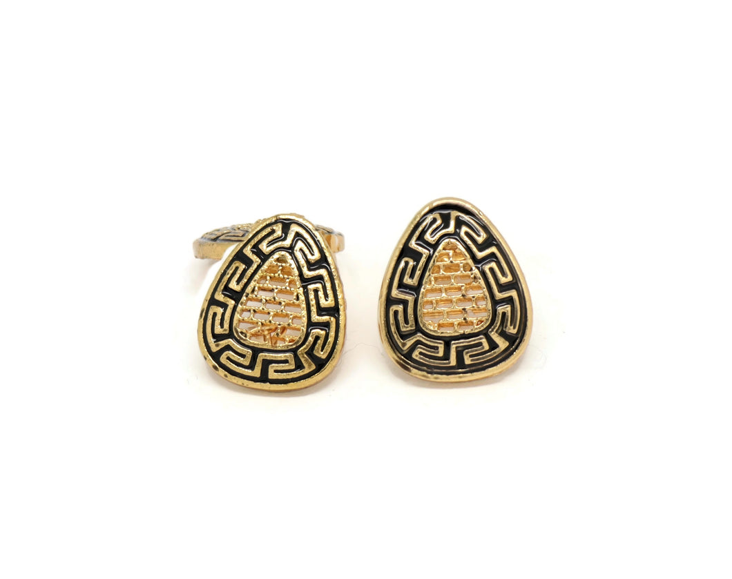 Greek Style Simple and Stylish Geometric shape Design Stud Earrings