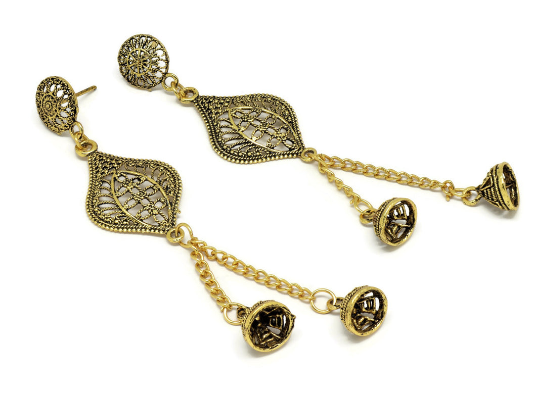 Bollywood  Inspired Jhumka Earrings 18kt Gold Plated Perfect Gift for her