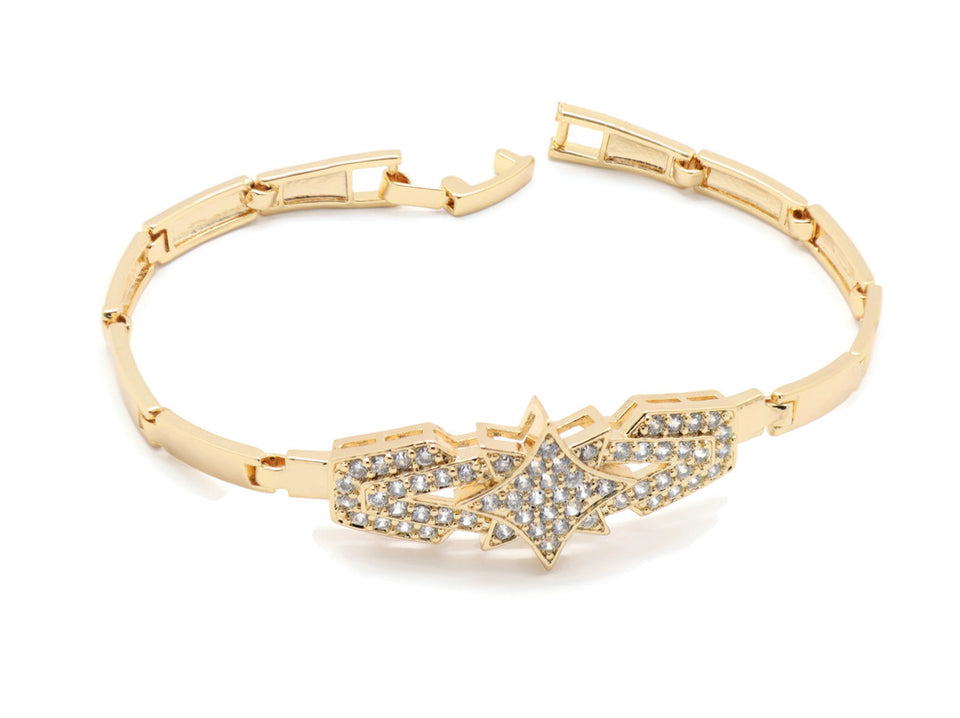 Star design Tennis  Bracelet  Set 18Kt